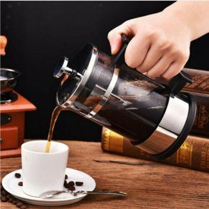 Stainless Steel French Press Coffee Maker 6 cup